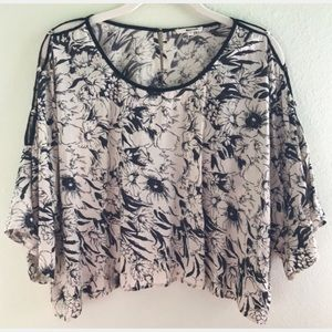 LAmade Floral Crop Top, Size 6